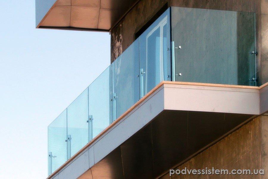 Коблево стеклянные балконные ограждения - безрамное остек....