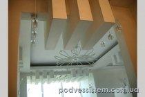 Сложный фигурный гипсокартонный потолок