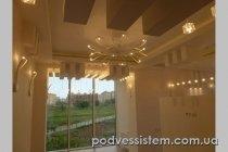 Фигурный мнгоуровневый потолок из гипсокартона