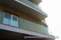 Коблево стеклянные балконные ограждения