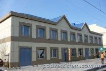 Работы по монтажу вентилируемых фасадов - вокзал Красноармейск