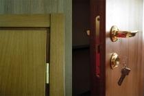 Дверь шпонированная дубом с дополнительной изоляцией