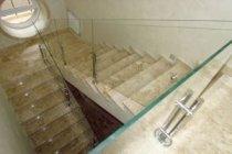 Стеклянное лестничное ограждение Коблево
