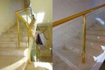 Стеклянные перила для лестницы Зеленый мыс